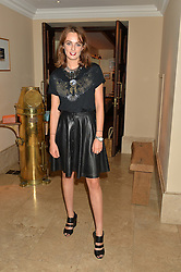 LADY VIOLET MANNERS at a private view of the Beulah Winter Autumn Winter collection entitled 'Chrysalis' held at The South Kensington Club, London SW7 on 24th September 2015.