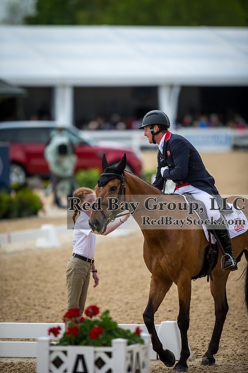 Oliver Townend (GBR) and Cooley Master Class during the second day of dressage at the 2019 Land Rover Kentucky Three-Day Event presented by MARS EQUESTRIAN in Lexington, Kentucky.