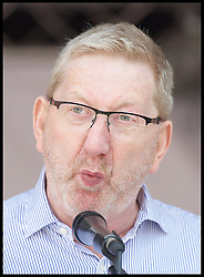 July 1, 2017 - London, London, United Kingdom - Image ©Licensed to i-Images Picture Agency. 01/07/2017. London, United Kingdom. The People's Assembly-Not One Day More. ..Len McCluskey General Secretary Unite the Union at The People's Assembly - Not One Day More -  National Demonstration Parliament Square, London, Great Britain ..Picture by Elliott Franks / i-Images (Credit Image: © Elliott Franks/i-Images via ZUMA Press)