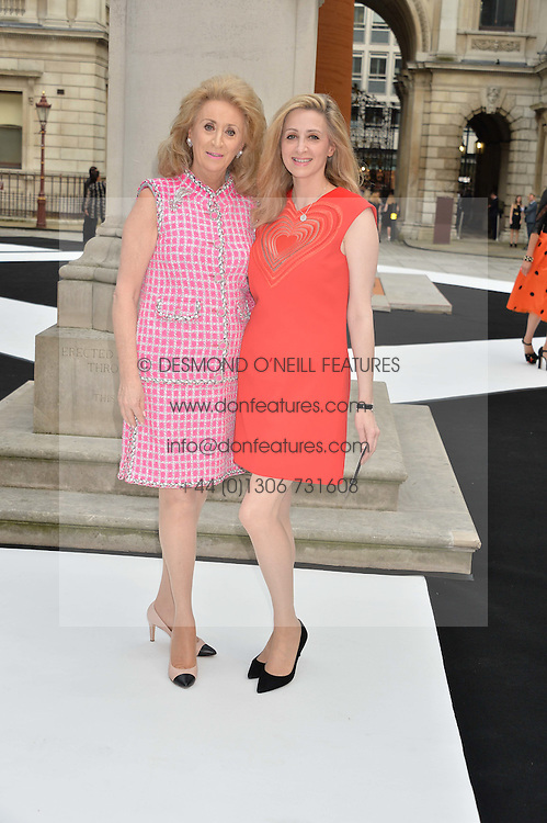 Left to right, LADY WOLFSON and her daughter ANTOINETTE JACKSON at the Royal Academy of Arts Summer Exhibition Preview Party at The Royal Academy of Arts, Burlington House, Piccadilly, London on 7th June 2016.