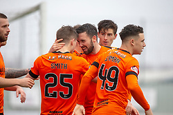 Dundee United's Cameron Smith (25) celebrates after scoring their goal. Falkirk 1 v 1 Dundee United, Scottish Championship game played 23/2/2019 at The Falkirk Stadium.