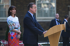 2016-06-24 British PM David Cameron announces he is to step aside following EU referendum defeat