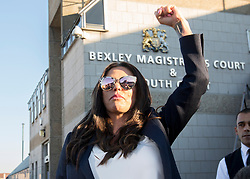 Katie Price outside Bexley Magistrates' Court following her drink driving trial where she was banned from driving for three months, adding to the ban from earlier this year for driving while disqualified.