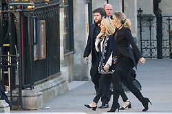 Westminster Abbey, London, March 14th 2016.  Her Majesty The Queen, Head of the Commonwealth, accompanied by The Duke of Edinburgh, The Duke and Duchess of Cambridge and Prince Harry attend the Commonwealth Service at Westminster Abbey on Commonwealth Day. PICTURED: Pop singer Ellie Goulding, centre, arrives to perform at the Abbey.