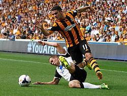 Norwich City's Steven Whittaker tackles Hull City's Robbie Brady  - Photo mandatory by-line: Matt Bunn/JMP - Tel: Mobile: 07966 386802 24/08/2013 - SPORT - FOOTBALL - KC Stadium - Hull -  Hull City V Norwich City - Barclays Premier League