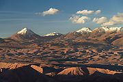 Desert and mountains on sunny day, Atacama Desert, Chile
