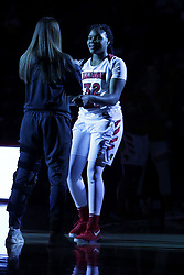 01 November 2017: Simone Goods during a Exhibition College Women's Basketball game between Illinois State University Redbirds the Red Devils of Eureka College at Redbird Arena in Normal Illinois.