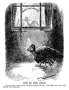 """Out in the Cold. Turkey (bitterly). """"They seem to have forgotten me. And they call this the season of goodwill!"""" (a sad Turkey is left outside the Peace Conference after WW1)"""