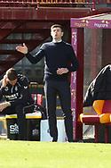 Steven Gerrard (Rangers) gestures during the Scottish Premiership match between Motherwell and Rangers at Fir Park, Motherwell, Scotland on 27 September 2020.