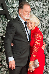 © Licensed to London News Pictures. 15/12/2016. TAYLOR HACKFORD and DAME HELEN MIRREN attend the European film premiere of Collateral Beauty. London, UK. Photo credit: Ray Tang/LNP