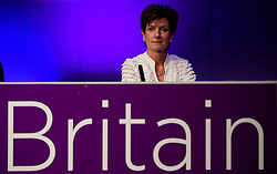 ©  London News Pictures. 17/09/2016. Bournemouth, UK. UKIP party leader DIANE JAMES  on stage at Day  2 of the 2016 UKIP Autumn Conference, held at the Bournemouth International Centre in Bournemouth, Dorset. On Friday, the party elected Diane James as their new leader, following Nigel Farage resignation after the UK voted to leave the EU in a referendum..  Photo credit: Ben Cawthra/LNP