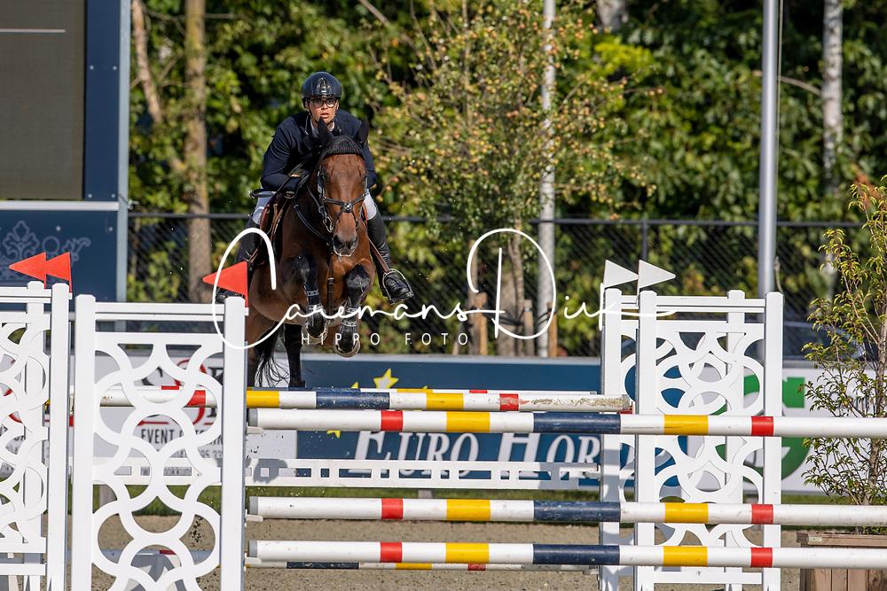 Gaublomme Brent, BEL, Kamille van het Lindenhove Z<br /> Belgian Championship 6 years old horses<br /> SenTower Park - Opglabbeek 2020<br /> © Hippo Foto - Dirk Caremans<br />  13/09/2020