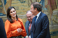 Queen Letizia of Spain attends the delivery of Accreditation of the 7th edition of 'Honorary Ambassadors of the Spain Brand' at El Pardo Royal Palace on March 3, 2020 in Madrid, Spain