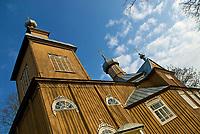 Trzescianka, woj podlaskie, 09.11.2008. N/z drewniana cerkiew z konca XIX wieku fot Michal Kosc / AGENCJA WSCHOD