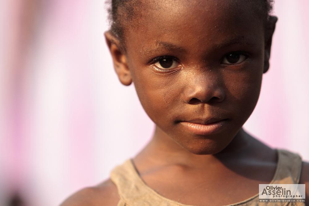 Portrait of a girl in the West Point slum in Monrovia, Montserrado county, Liberia on Monday April 2, 2012.