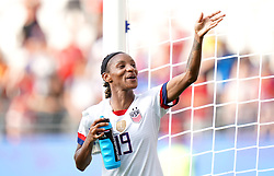 USA's Crystal Dunn applauds the fans after the final whistle