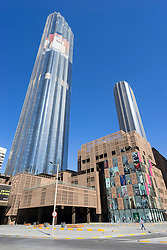 Exterior of new World Trade Center Mall in Abu Dhabi United Arab Emirates