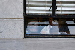 Bill Cosby departs after being found guilty on all three accounts of sexual assault, at Montgomery County Court House, in Norristown, PA, USA, on April 26, 2018. (Photo by Bastiaan Slabbers/Sipa USA)