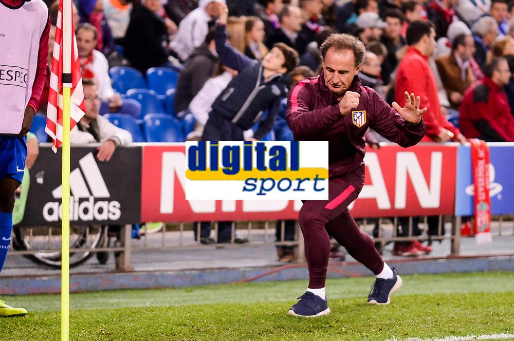 Atletico de Madrid's physical trainer Oscar Ortega during a match of UEFA Champions League at Vicente Calderon Stadium in Madrid. November 01, Spain. 2016. (ALTERPHOTOS/BorjaB.Hojas)