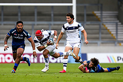 Siale Piutau of Bristol Bears is tackled by AJ MacGinty of Sale Sharks- Mandatory by-line: Robbie Stephenson/JMP - 29/08/2020 - RUGBY - AJ Bell Stadium - Manchester, England - Sale Sharks v Bristol Bears - Gallagher Premiership Rugby