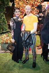 © Licensed to London News Pictures . 23/11/2018. Manchester , UK . Coronation Street actor Bhavna Limbachia (l) arrives at an opening event of The Ivy restaurant and bar venue in Spinningfields in Manchester City Centre . Photo credit : Joel Goodman/LNP