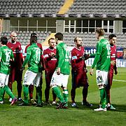 Trabzonspor's and Werder Bremen's during their Tuttur.com Cup matchday 2 soccer match Trabzonspor between  Werder Bremen at Mardan stadium in AntalyaTurkey on 07 Monday January, 2013. Photo by Aykut AKICI/TURKPIX