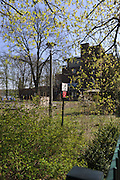Berlin GERMANY.   Derelict building on the Regattastrasse 277.  Possible, an old Radio Station. Berlin Grunau Spring Regatta [Beliner Fruh-Regatta 2010 Berlin-Grunau.].  Sunday   25/04/2010.  [Mandatory Credit. Peter Spurrier/Intersport Images]