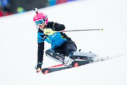 "Forerunner Pika Dvornik in action during 1st Run of the FIS Alpine Ski World Cup 2017/18 7th Ladies' Slalom race named ""Golden Fox 2018"", on January 7, 2018 in Podkoren, Kranjska Gora, Slovenia. Photo by Ziga Zupan / Sportida"