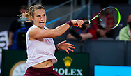 Aryna Sabalenka of Belarus in action against Anastasia Pavlyuchenkova of Russia during the semi-final of the Mutua Madrid Open 2021, Masters 1000 tennis tournament on May 6, 2021 at La Caja Magica in Madrid, Spain - Photo Oscar J Barroso / Spain ProSportsImages / DPPI / ProSportsImages / DPPI