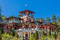 the Romanov summer palace landmark of the thermal city of Borjomi Samtskhe Javakheti region Georgia eastern Europe