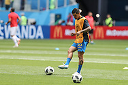 Fagner of Brazil warms up before the 2018 FIFA World Cup Russia, Group E football match between Brazil and Costa Rica on June 22, 2018 at Saint Petersburg Stadium in Saint Petersburg, Russia - Photo Thiago Bernardes / FramePhoto / ProSportsImages / DPPI