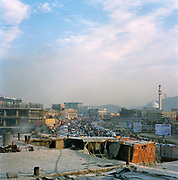 View from Hajji Gul serai looking south towards the Pul-e-Khishti mosque and the old city.