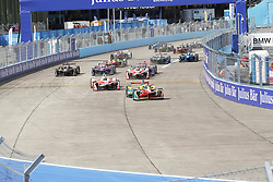 June 10, 2017 - Berlin, Berlin-Tempelhof, Germany - The photo shows an electric car on the Formula e race track on the former grounds of the Berlin airport in Berlin-Tempelhof. (Credit Image: © Simone Kuhlmey/Pacific Press via ZUMA Wire)