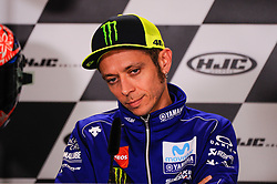 May 18, 2018 - Le Mans, France, France - Valentino Rossi attends a press conference of France MotoGP at Circuit Bugatti Le Mans. (Credit Image: © Gaetano Piazzolla/Pacific Press via ZUMA Wire)