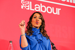 © Licensed to London News Pictures. 16/02/2020. London, UK. Labour Party deputy leadership candidate DR ROSENA ALLIN-KHAN MP for for Tooting speaks at a hustings event hosted by the Co-operative Party held at Business Design Centre, north London. Photo credit: Dinendra Haria/LNP