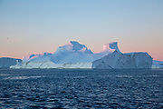 Icebergs from the icefjord, Ilulissat, Disko Bay, Greenland, Polar Region