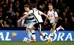 Luke Freeman of Queens Park Rangers takes on Craig Bryson of Derby County - Mandatory by-line: Robbie Stephenson/JMP - 31/03/2017 - FOOTBALL - iPro Stadium - Derby, England - Derby County v Queens Park Rangers - Sky Bet Championship