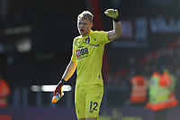 Football - 2019 / 2020 Premier League - AFC Bournemouth vs. Chelsea<br /> <br /> Bournemouth's Aaron Ramsdale shouts at the linesman to complain about the height of Olivier Giroud's boot in the build up to Chelseas goal at the Vitality Stadium (Dean Court) Bournemouth  <br /> <br /> COLORSPORT/SHAUN BOGGUST