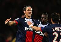 Zlatan Ibrahimovic of PSG - Paris St Germain celebrates after scoring a goal to make it 1-1