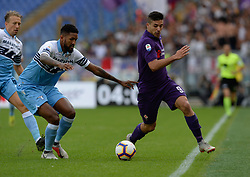 October 7, 2018 - Rome, Italy - Giovanni Simeone during the Italian Serie A football match between S.S. Lazio and Fiorentina at the Olympic Stadium in Rome, on october 07, 2018. (Credit Image: © Silvia Lore/NurPhoto/ZUMA Press)