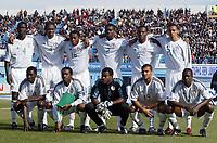 Fotball<br /> African Nations Cup 2004<br /> Foto: Digitalsport<br /> Norway Only<br /> <br /> Nigeria<br /> <br /> 1/4 FINAL - 040208<br /> NIGERIA v KAMERUN<br /> <br /> TEAM NIGERIA ( BACK ROW LEFT TO RIGHT : OLUWASEYI OLONFIYANA / NWANKWO KANU / IFEANYI UDEZE / JOSEPH YOBO / ISAAC OKORONKWO / OSAZE ODEMWINGIE . FRONT ROW : GARBA LAWAL / AUGUSTINE OKOCHA  / VINCENT ENYEAMA / GEORGE ABBEY / JOHN UTAKA )