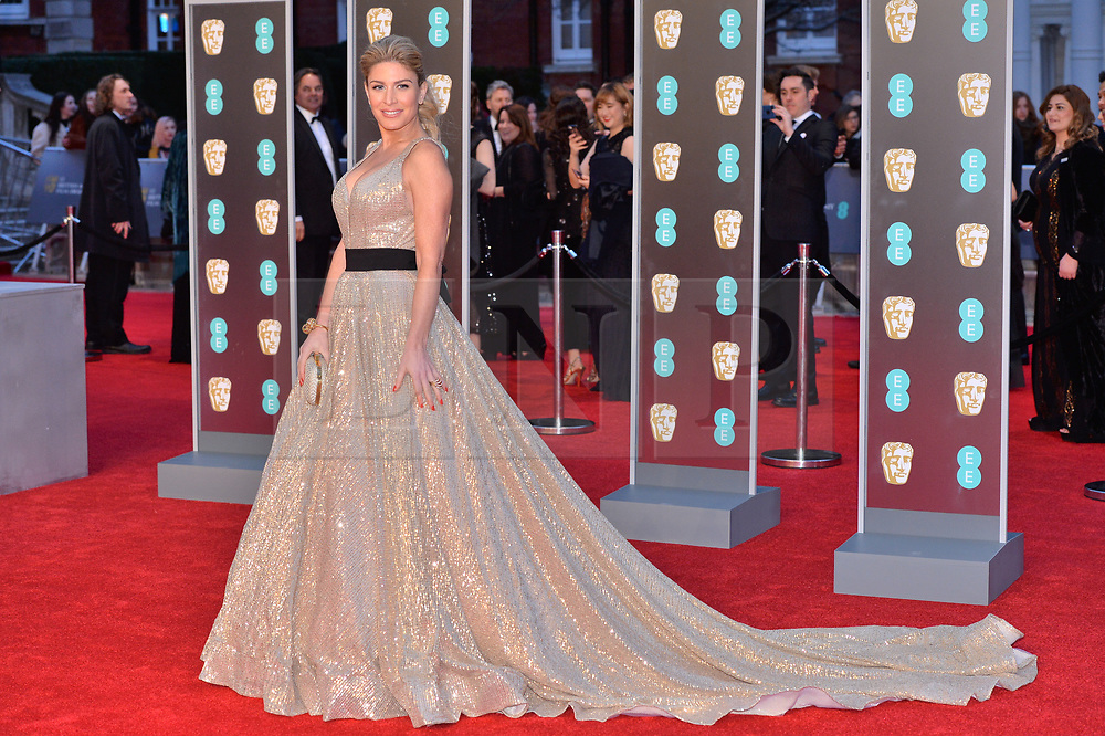 © Licensed to London News Pictures. 18/02/2018. London, UK. HOFFIT GOLAN arrives on the red carpet for the EE British Academy Film Awards 2018, held at the Royal Albert Hall. London, UK. Photo credit: Ray Tang/LNP