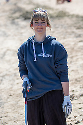 15JUL21 Kirsty Crawford. The Marine Conservation Society launching it's big beach clean up volunteer call at Cramond beach this morning.