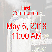 St Catherine of Siena Norwood MA First Communion celebration on May 6, 2018, at 11:00 AM