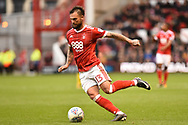 Nottingham Forest defender Danny Fox (13) during the EFL Sky Bet Championship match between Nottingham Forest and Burton Albion at the City Ground, Nottingham, England on 21 October 2017. Photo by Jon Hobley.