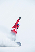 Billy Morgan, Great Britain, during the mens snowboard big air qualification at the Pyeongchang 2018 Winter Olympics on February 21st 2018, at the Alpensia Ski Jumping Centre in Pyeongchang-gun, South Korea