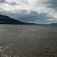 Wind ripples Lago de Toro in Torres del Paine National Park, Patagonia, Chile.