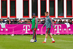 14.03.2019, Säbener Strasse, Muenchen, GER, 1. FBL, FC Bayern Muenchen vs 1. FSV Mainz 05, Training, im Bild v.l. Renato Sanches (FC Bayern), Joshua Kimmich (FC Bayern) // during a trainings session before the German Bundesliga 26th round match between FC Bayern Muenchen and 1. FSV Mainz 05 at the Säbener Strasse in Muenchen, Germany on 2019/03/14. EXPA Pictures © 2019, PhotoCredit: EXPA/ Lukas Huter