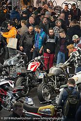 LowRide Magazine Italy custom bike show at Motor Bike Expo. Verona, Italy. Saturday January 20, 2018. Photography ©2018 Michael Lichter.