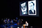 Brooklyn, NY - 18 January 2014. Art Spiegelman's Wordless, with words and pictures by Art Spiegelman, and music by Phillip Johnston.
